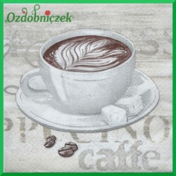 Serwetka do decoupage espresso & latte