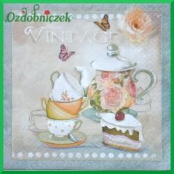 Serwetka do decoupage zestaw do herbaty