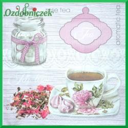 Serwetka do decoupage różana herbata