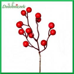 Małą gałązka jagódek czerwonych