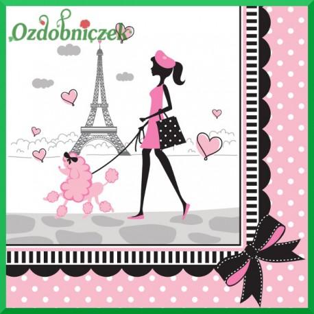Serwetka do decoupage Paryż - pudel
