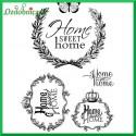 Papier do decoupage SOFT A4 - home sweet home  S116