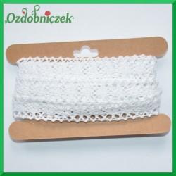 Koronka bawełniana biała KRB108