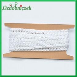 Koronka bawełniana biała KRB35