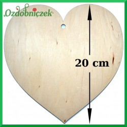 Zawieszka ze sklejki - serce duże 20cm