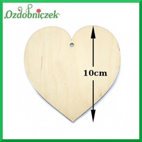 Zawieszka ze sklejki - serce średnie 10cm