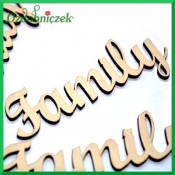 FAMILY - napis ze sklejki ozdobnej