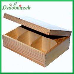 Herbaciarka drewniana - 6 przegródek