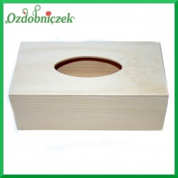 Chustecznik drewniany prostokątny