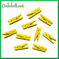 Klamerki żółte  10szt./3,5cm