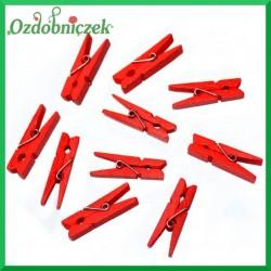 Klamerki czerwone 10szt./3,5cm