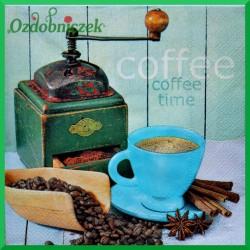 Serwetka do decoupage kawa w turkusowej filiżance 1szt.