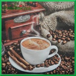 Serwetka do decoupage kawa z młynkiem 1szt.