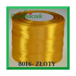 Wstążka tasiemka satynowa 38mm kolor złoty 8016