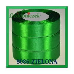 Wstążka tasiemka satynowa 38mm kolor zielony 8086