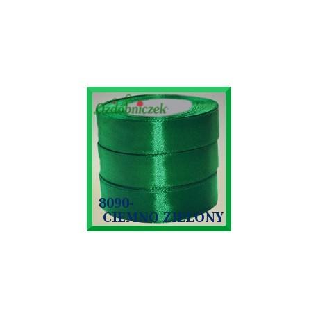 Tasiemka satynowa 38mm kolor ciemny zielony 8090