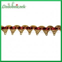 Koronka ozdobna złoto-czerwona KR87 15mm/4mb