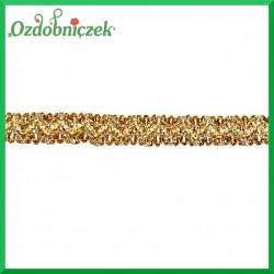 Koronka ozdobna złoto-biała KR89 15mm/4,5mb