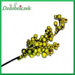 Zielona BORÓWKA mix rozmiarów gałązka 24cm