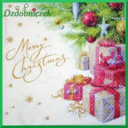 Serwetka do decoupage prezenty i merry christmas 1szt
