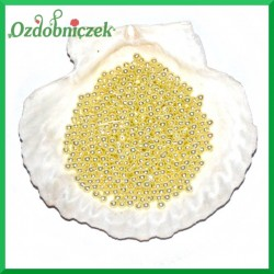 Perełki 4mm ecru perłowe