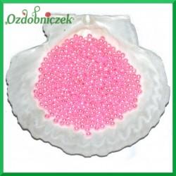 Perełki 4mm różowe perłowe