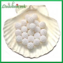 Koraliki perłowe jeżynki 14mm / 35szt