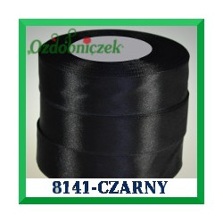 Tasiemka satynowa 38mm kolor czarny 8141