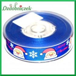 Tasiemka rypsowa niebieski mikołaj 16mm/1mb