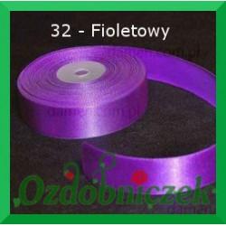Wstążka tasiemka satynowa 25mm fioletowa 32 SZTYWNA