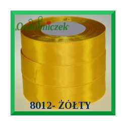 Tasiemka satynowa 50mm kolor żółty 8012