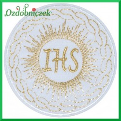 Naszywka termo IHS ze złotą nitką