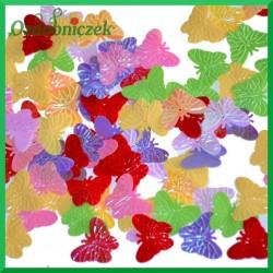 Cekiny motylki 21mm/17g mix kolorów