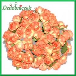 POMARAŃCZOWE Różyczki papierowe 1cm 144szt.