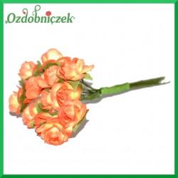 POMARAŃCZOWE Różyczki papierowe 1cm 12szt.