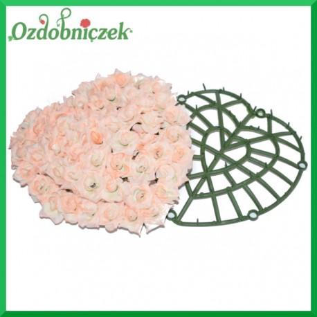 Serce - plastikowa baza do kwiatów 22cm