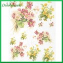 Papier ryżowy A4 - kwiaty żółte i czerwone R960