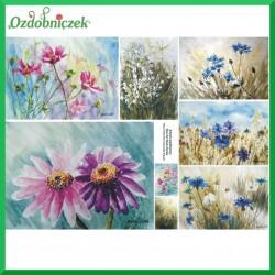 Papier do decoupage KLASYCZNY A4 - kwiatowe łąki D0215M
