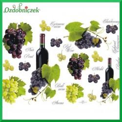 Papier do decoupage KLASYCZNY A4 - wino i winogrona D0232M