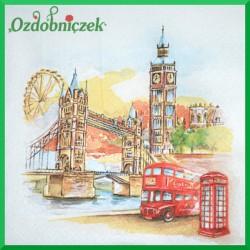 Serwetka do Decoupage rysunkowy Londyn 1 szt.