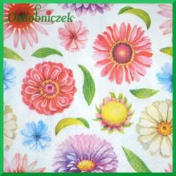 Serwetka do Decoupage główki kwiatów 1 szt.