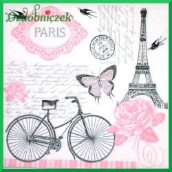 Serwetka do Decoupage rower i Paryż 1 szt.