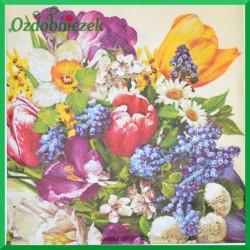 Serwetka do Decoupage bukiet kwiatów wiosennych 1 szt.