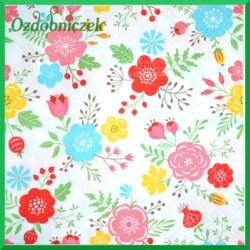 Serwetka do Decoupage kolorowe kwiatki 1 szt.