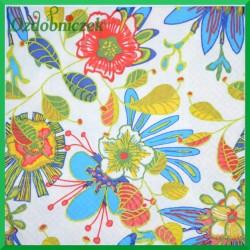 Serwetka do Decoupage malowane kwiaty1 szt.