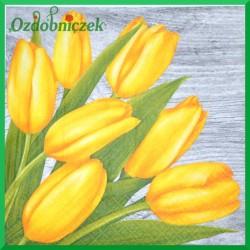 Serwetka do Decoupage żółte tulipany 1 szt.