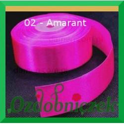 Wstążka tasiemka satynowa SZTYWNA 38mm/2mb kolor amarantowy 02