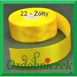 Wstążka tasiemka satynowa SZTYWNA 38mm/2mb kolor żółty 22