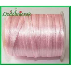 Tasiemka atłasowa 3mm 5m różowa