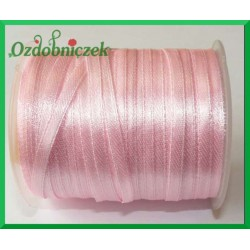 Tasiemka atłasowa 3mm różowa